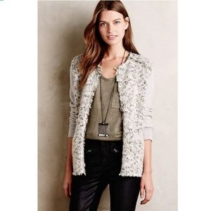 Anthropologie Elevenese Dalena Sweater Blazer L